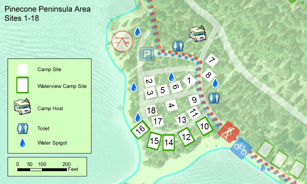 Pinecone Area Sites 1-18