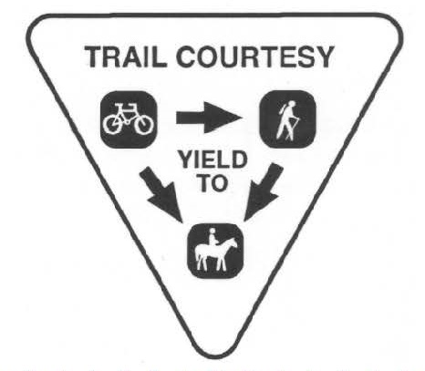 Trail courtesy symbol