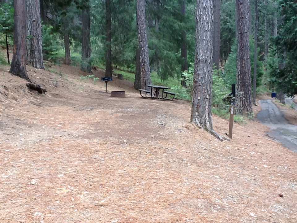 Sierra Spur site #60 - 2 vehicles, tent only - sun, level, tight entrance