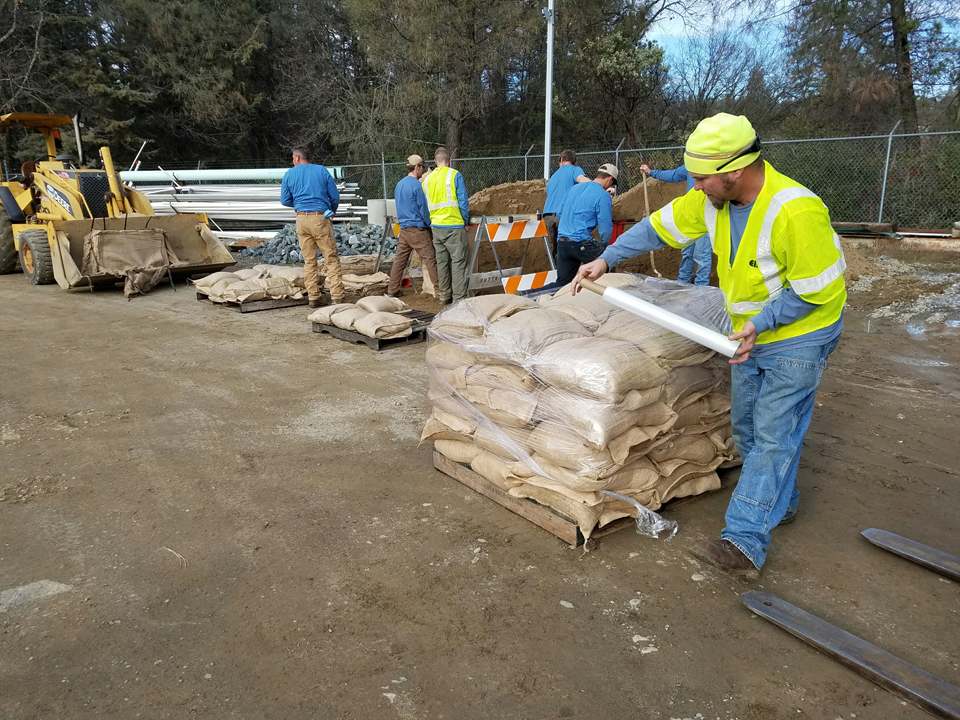 Prepping Sandbags for Quick Deployment