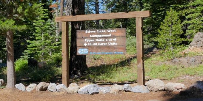 Silver Lake West Campground EID sign