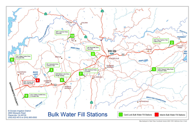 Image of map for bulk water fill stations