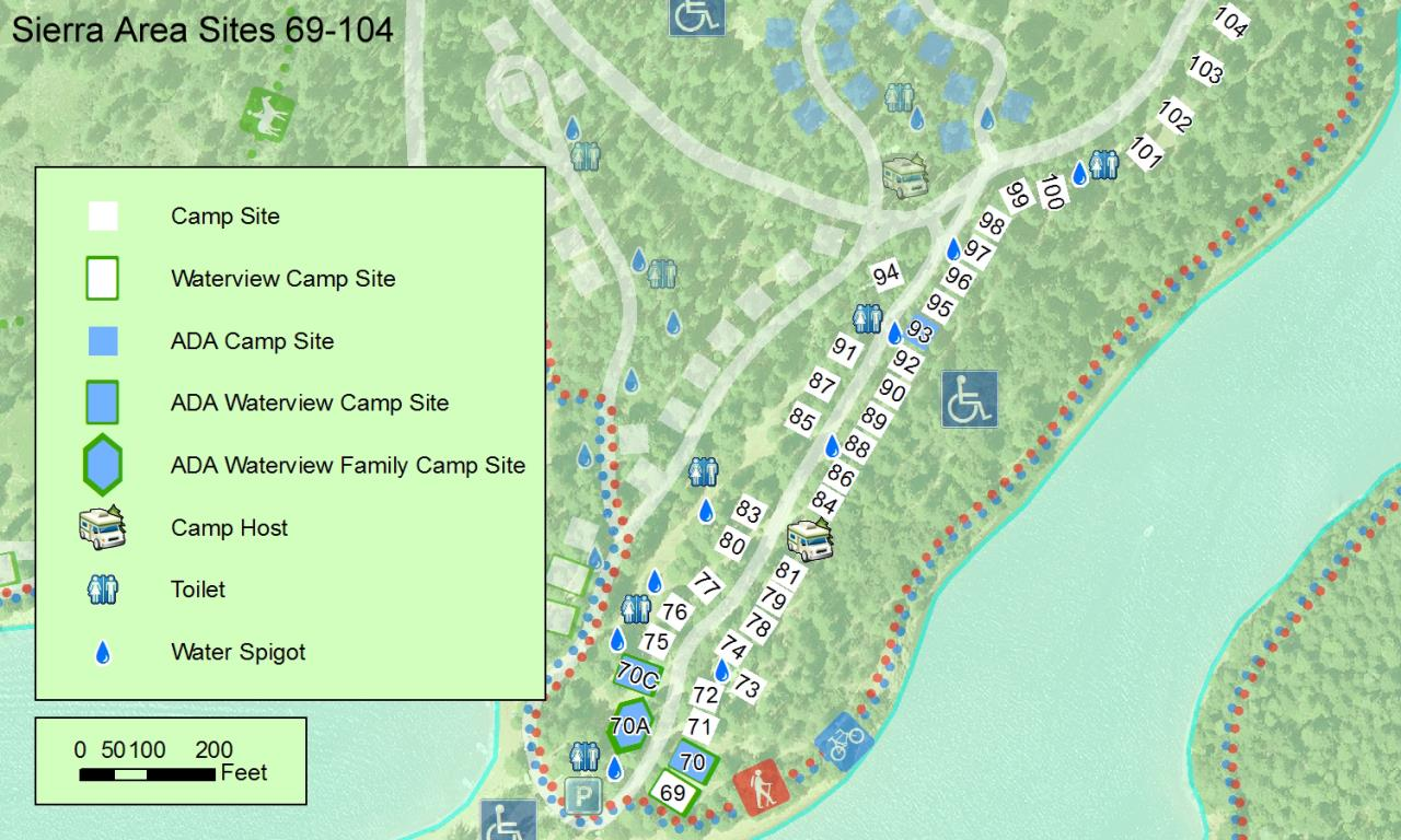 Camping Map on