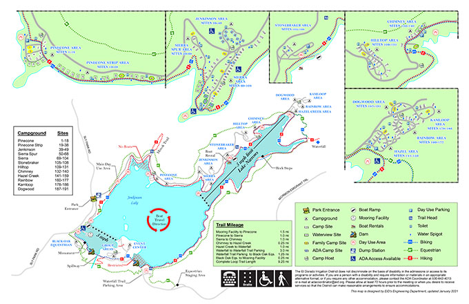 SPRA Park Maps | El Dorado Irrigation District Map From on