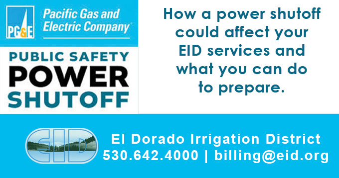 PG&E PSPS - How a power shutoff could affect your EID services and what you can do to prepare.