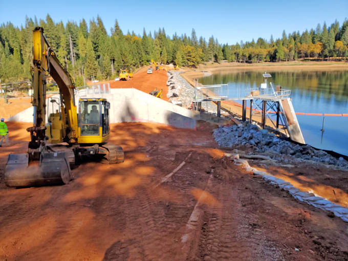 Forebay Dam Construction October 2019