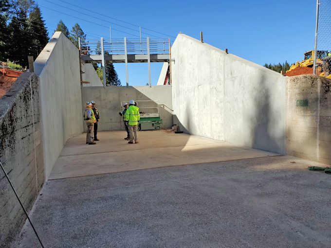 Forebay Dam Construction October 2019 - New Concrete Spillway
