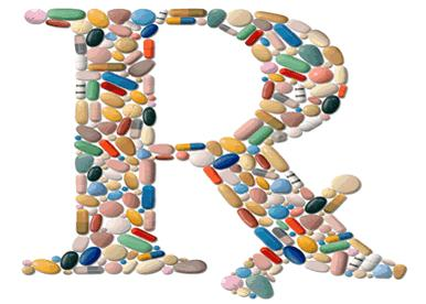 Image of RX letter with pills